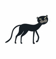 cute black panther cartoon isolated on white vector image vector image