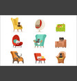 cute different cats characters lying and resting vector image