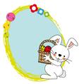 Easter Bunny Spring Framework vector image vector image
