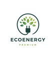 eco energy logo icon vector image