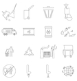 Ecology icons set outline style vector image