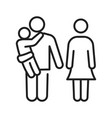family monochrome icon line vector image