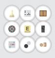 flat icon games set of gomoku mahjong chequer vector image vector image