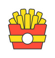 french fries food and gastronomy set filled vector image vector image