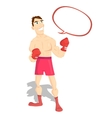 funny cartoon character boxer boxing champion vector image vector image