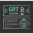 Gift voucher organic food vector image vector image