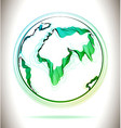 Globe green abstract icon vector image