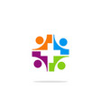 group cross hospital care logo vector image vector image