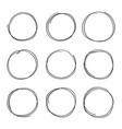 hand drawn circles sketch frame super set rounds vector image vector image