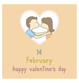Happy valentine s day card10 vector image vector image
