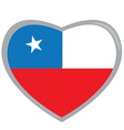 Isolated Chilean flag vector image