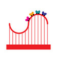 isolated theme park roller coaster icon vector image