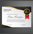 luxurious certificate design template vector image vector image
