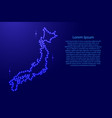 map japan from luminous blue star space points on vector image vector image
