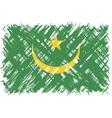 Mauritanian grunge flag vector image vector image
