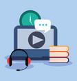 online education concept vector image