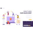 online store sale landing page shop online vector image vector image