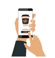 order coffee online vector image