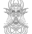 Portrait of a demon in abstract style vector image vector image