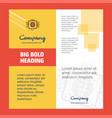 processor company brochure title page design vector image vector image