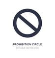 Prohibition circle icon on white background