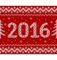 Red knit for 2016 new year seamless vector image vector image