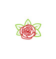 red rose nature lotus logo vector image vector image