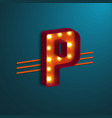retro style letter p vector image