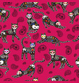 seamless pattern cats day dead vector image