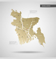 stylized bangladesh map vector image