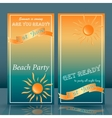 summer time beach party flyer yellow and blue vector image vector image