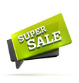 super sale sign vector image vector image