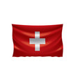 switzerland flag on a white vector image vector image