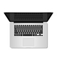 top view of realistic computer laptop vector image