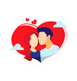 valentine love doodle vector image vector image