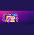 video tutorial header banner vector image