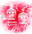 Watercolor pink blob Ramadan kareem vector image vector image