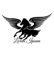 Winged Stallion Logo vector image
