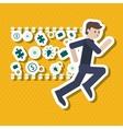 Winner and businessman design vector image