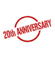 20th anniversary stamp vector image