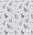 alpaca stylized seamless pattern vector image vector image