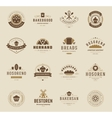 Bakery Shop Logos Badges and Labels vector image