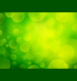 bio green background with bokeh vector image