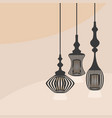 black hanging interior lights icons set vector image