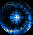 Blue swirl vector image