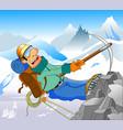 bold climber vector image