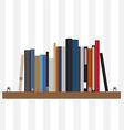 Book shelf vector image vector image