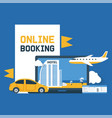 booking online electronic vector image