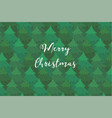 bright background with coniferous forest and text vector image vector image