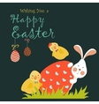 Bunnychicken and easter egg vector image vector image